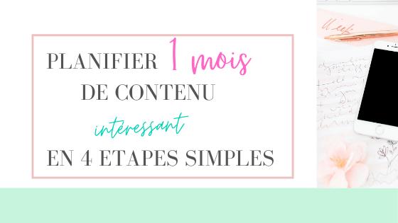 planifier 1 mois de contenu de blog